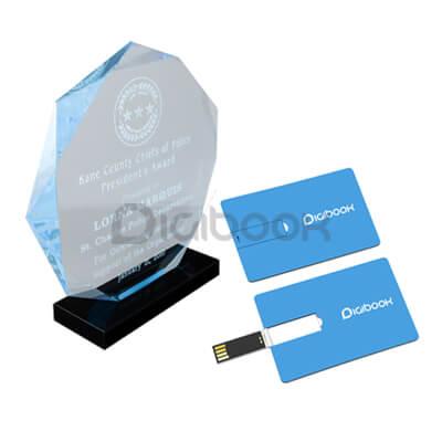 Piala Akrilik Warna Dan Print UV Brandtalk Advertising